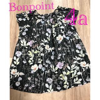 Bonpoint - 美品中古 ボンポワン ブラックイルマ ワンピース 4a