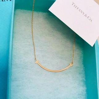 Tiffany & Co. - 新品☆Tスマイルネックレス ローズゴールド ティファニー
