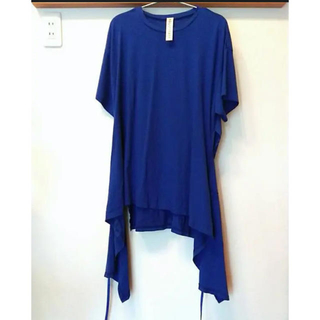 エンフォルド(ENFOLD)のナゴンスタンス エプロンTシャツ コバルト ブルー 超美品 enfold(Tシャツ(半袖/袖なし))