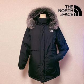 THE NORTH FACE - 美品 ザノースフェイス コート 中綿 ロゴ ダウン 黒 人気