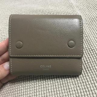 celine - セリーヌ 三つ折り財布 ベージュ