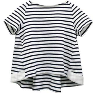 サカイラック(sacai luck)の【sacai luck】白黒ボーダー カットソー(Tシャツ(半袖/袖なし))