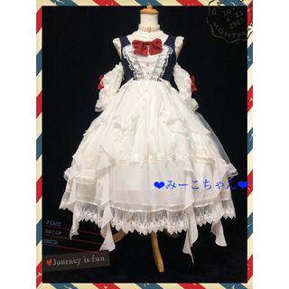 Angelic Pretty - スノーホワイト ドレスワンピースフルセット 姫ロリ しゅくれどーる ロリィタ