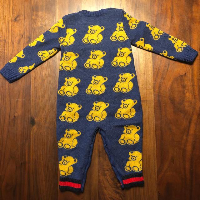 Gucci(グッチ)のグッチ ベビー ウールロンパース キッズ/ベビー/マタニティのベビー服(~85cm)(ロンパース)の商品写真