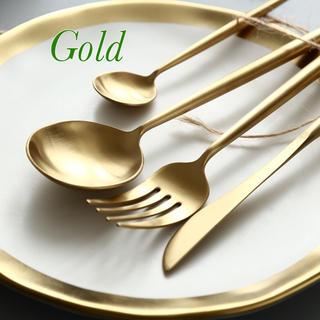 ◎カトラリー8本セット◎NEW ゴールド 再販 数量限定です‼︎(カトラリー/箸)