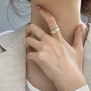 アメリヴィンテージ(Ameri VINTAGE)の7個入り シンプル リング セット ファランジリング 指輪(リング(指輪))