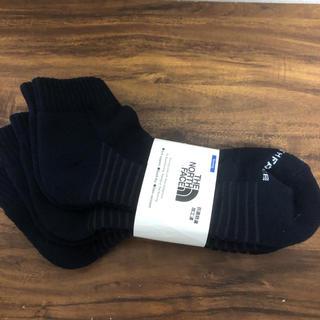 ザノースフェイス(THE NORTH FACE)の新品 27〜29cm ノースフェイス 3足セット ランニングソックス 靴下(その他)