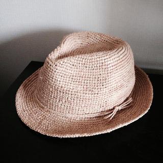 ムジルシリョウヒン(MUJI (無印良品))のMUJI ラフィア帽(麦わら帽子/ストローハット)