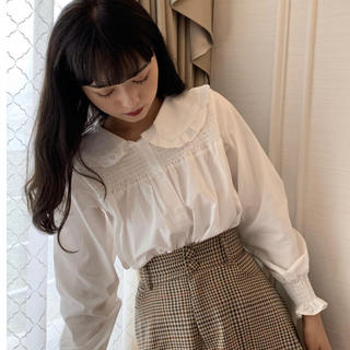 Miroamurette ♡ 新作! 丸襟ギャザーブラウス