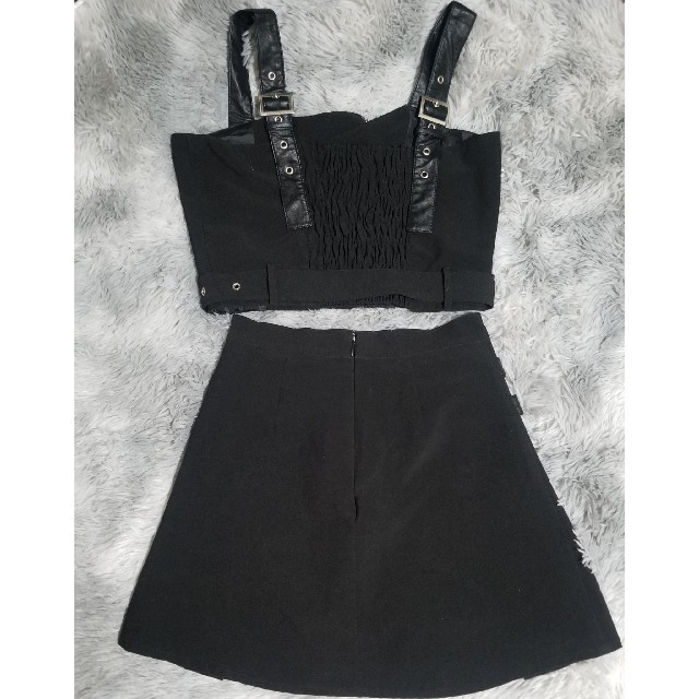 Bubbles(バブルス)のBUBBLES セットアップ 地雷系 量産型 ミニスカート ビスチェ レディースのスカート(ミニスカート)の商品写真