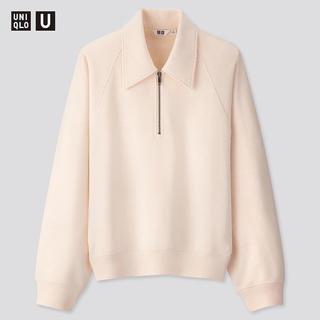 UNIQLO - スウェットハーフジップシャツ ユニクロ ナチュラル
