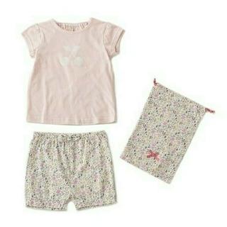 petit main - 新品タグ付き プティマイン 花柄パジャマ(収納袋付き) 110