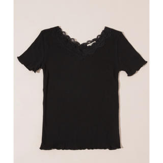 who's who Chico - 1回のみ着用 アプレジュール apres jour ワッフルレースメローTシャツ