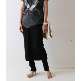 フレームワーク(FRAMeWORK)の18日まで☆ FRAMeWORK C/PEレギンス付きスカート ブラック38(ひざ丈スカート)