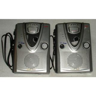 ソニー(SONY)の動作品2台:Sony ソニー カセットテープレコーダー TCM-400(ポータブルプレーヤー)