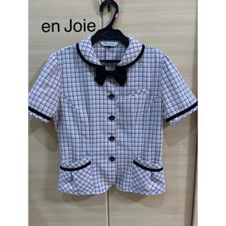 Joie (ファッション) - 事務服 en Joie アンジョア オーバーブラウス 9号