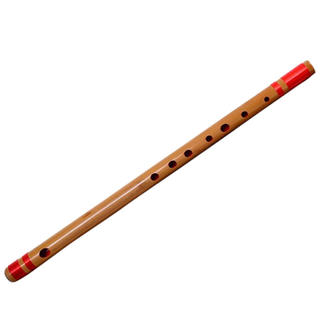 山本竹細工屋 竹製篠笛 7穴 八本調子竹笛横笛(赤紐巻き)(横笛)