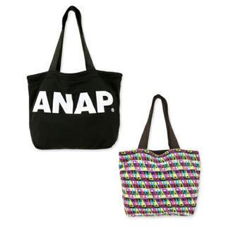アナップ(ANAP)のANAPロゴリバーシブルトートバッグ(トートバッグ)