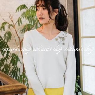 ANAYI - アナイ♡定価2.9万円 ガータービシシュウVネックプルオーバー♡