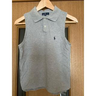 ラルフローレン(Ralph Lauren)の難あり ラルフローレン グレー ノースリーブ ポロシャツ サイズ160(ポロシャツ)