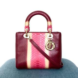 Christian Dior - 【超レア】 美品 クリスチャンディオール パイソン レディディオール カナージュ