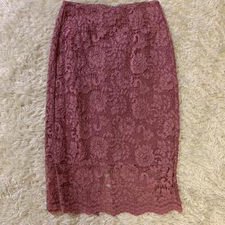 GU - GU*レースタイトスカート*ピンク