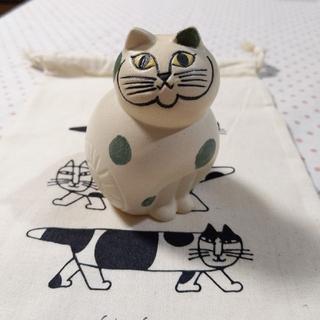 Lisa Larson - 新品未使用 リサラーソン ねこのぶち  猫 陶器 置物 限定 マリメッコ