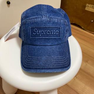 Supreme - supreme  embossed denim campcap 2020ss