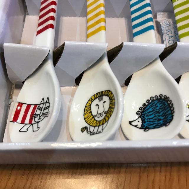 Lisa Larson(リサラーソン)のLISA LARSON陶製スプーンセット インテリア/住まい/日用品のキッチン/食器(カトラリー/箸)の商品写真
