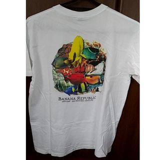 バナナリパブリック(Banana Republic)の【美品古着】Banana Republic 熱帯魚プリントTシャツ(Tシャツ/カットソー(半袖/袖なし))