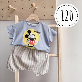 Disney - 120サイズ♡新品ミッキー Tシャツ ブルーグレー