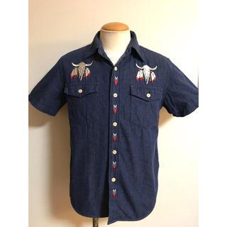 キャリー(CALEE)のCALEE カウスカル 刺繍 デニム シャツ M 半袖 キャリー XPV(シャツ)