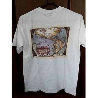 バナナリパブリック(Banana Republic)の【美品古着】Banana Republic 世界地図プリントTシャツ(Tシャツ/カットソー(半袖/袖なし))