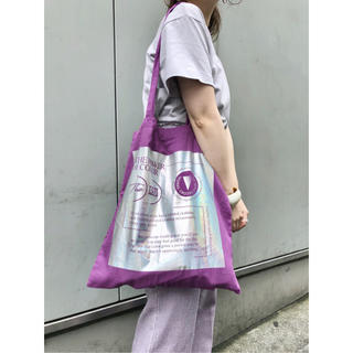 Kastane - kastane♡sixsence トートバッグ♡パープル