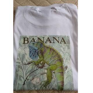 バナナリパブリック(Banana Republic)の【新品レア物】Banana Republic イグアナプリントTシャツ ※タグ付(Tシャツ/カットソー(半袖/袖なし))