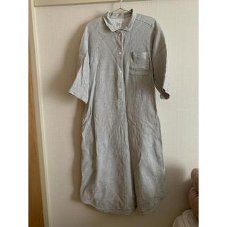 MUJI (無印良品) - 無印良品 ワッフル織 クルタ パジャマ ワンピース