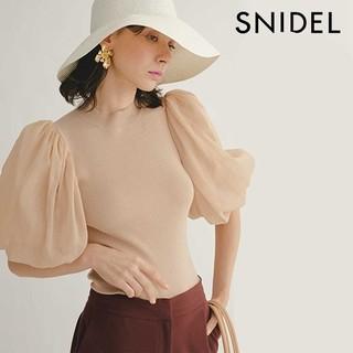 snidel - スナイデル 新品 シアースリーブニットプルオーバー