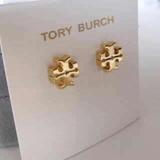 Tory Burch - 未使用品 トリーバーチ ロゴピアス ゴールド