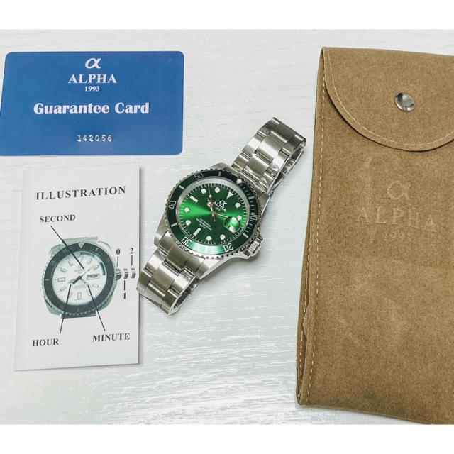 alpha(アルファ)の◆激レア【新品】/アルファ/1993/ダイバー自動巻/サブマリーナ/腕時計 メンズの時計(腕時計(アナログ))の商品写真