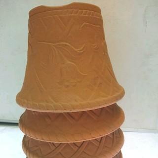 おすすめ大特価! 三河焼陶器鉢チューリップ柄浮き彫り7号鉢4枚セット(プランター)