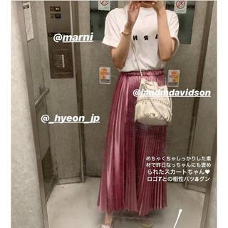 hyeon ヘヨン シャイニープリーツスカート(ロングスカート)