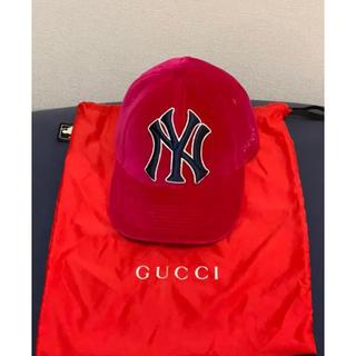 Gucci - GUCCI キャップ ヤンキース ベルベット ベロア ミケーレ グッチ