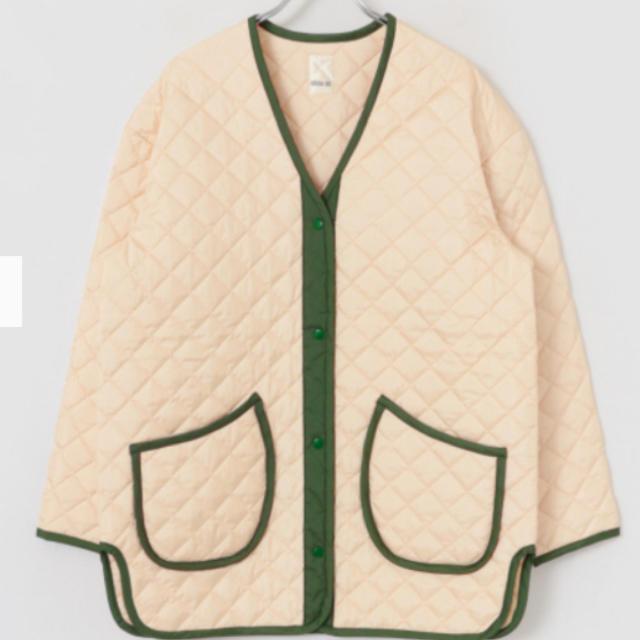 OSHIMA REI(オオシマレイ)の新品 OSHIMA REI オオシマレイ サテン キルティングコート ジャケット レディースのジャケット/アウター(ノーカラージャケット)の商品写真