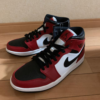 ナイキ(NIKE)のNIKE AIR JORDAN 1 MID CHICAGO BLACK TOE(スニーカー)