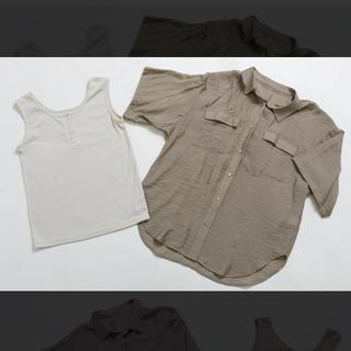 プチプラのあや PAシャツ+タンクセット