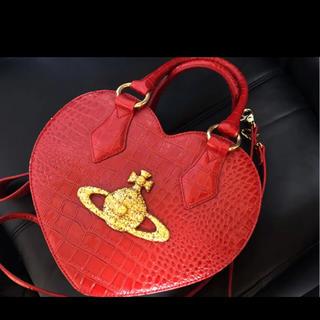 Vivienne Westwood - ヴィヴィアン ショルダーバッグ クロコ パイソン 2way ハート 赤