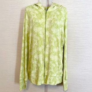 ユニクロ(UNIQLO)のUNIQLO ユニクロ パーカー ボタニカル 黄緑色 ハワイ フラダンス(パーカー)