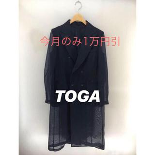 TOGA - 新品タグ付 TOGA シースルー ロングジャケット ダブル