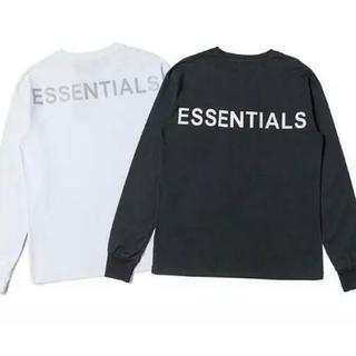フィアオブゴッド(FEAR OF GOD)の白黒2枚Essentials エッセンシャルズ新品長袖Tシャツ 白と黒 Mサイズ(Tシャツ/カットソー(七分/長袖))
