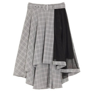 イートミー(EATME)の【新品同様】【美品】アシンメトリーイレヘムスカート(ひざ丈スカート)